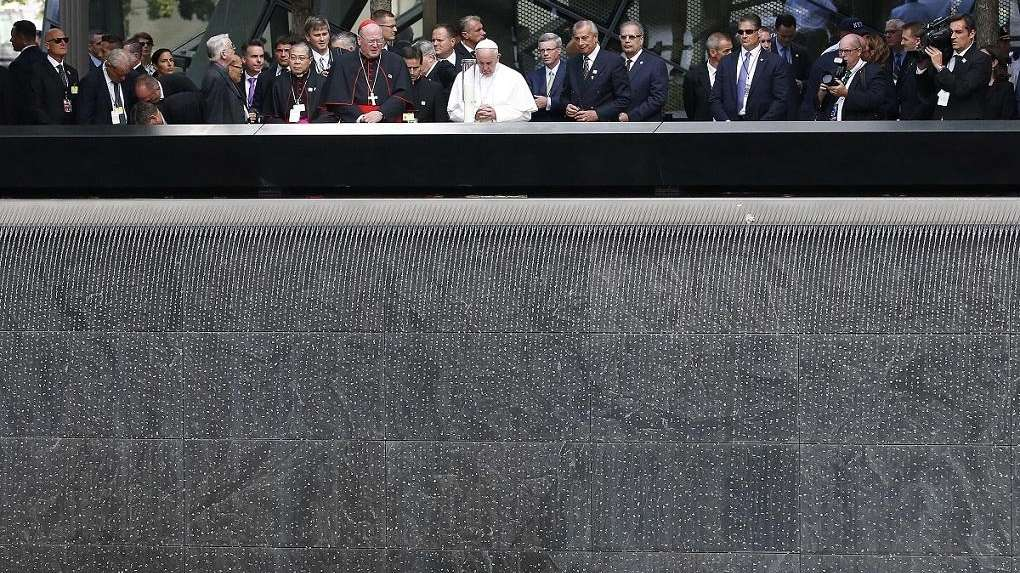 Pope at Ground Zero: 'Here grief is palpable'