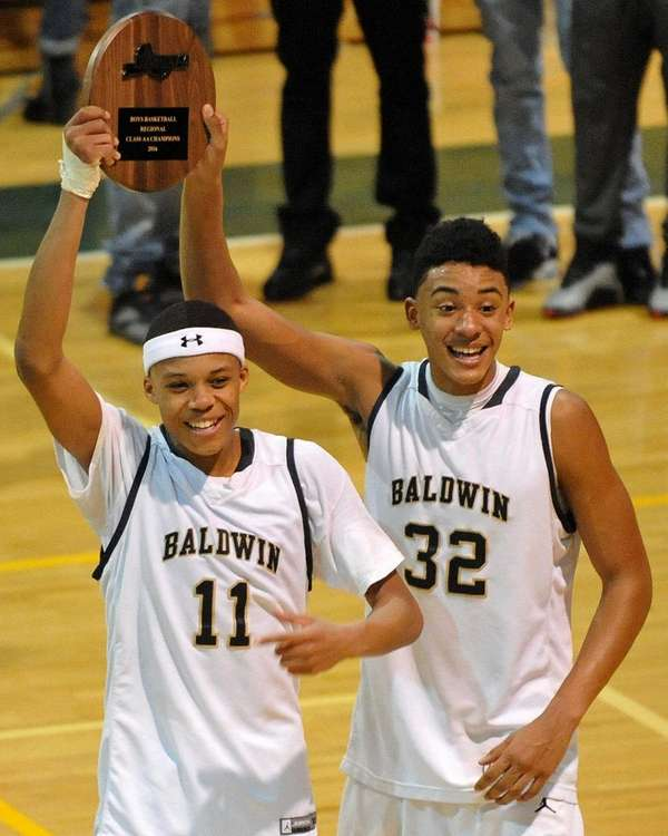 Shane Gatling, left, and Jared Rhoden of Baldwin