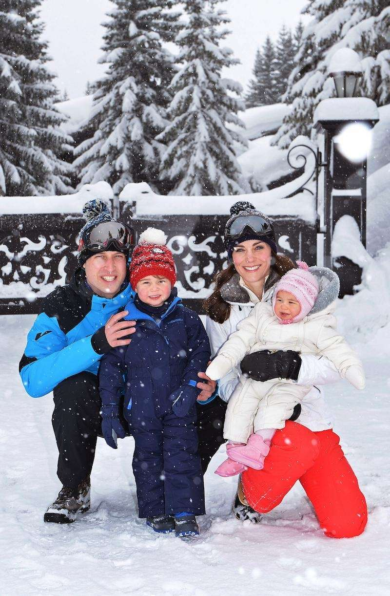 Prince William Kate with their children, Princess Charlotte