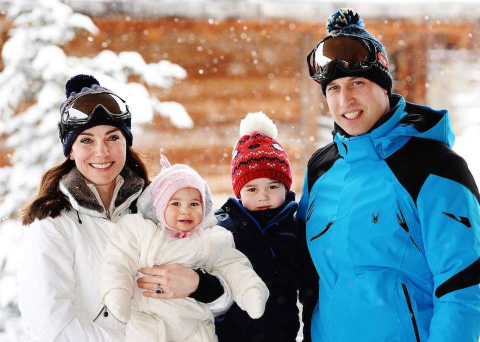 Britain's Prince William and Duchess of Cambridge, with