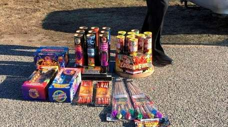 Fireworks that were found in the car of