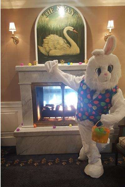 The Easter Bunny will be at the Swan