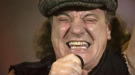 Brian Johnson, lead singer of AC/DC, performs during