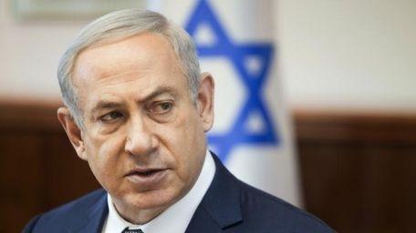 Israeli Prime Minister Benjamin Netanyahu speaks at a