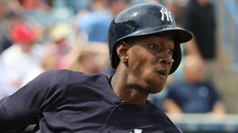 Jorge Mateo #93 of the New York Yankees