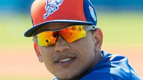 Mets outfielder Juan Lagares at spring training in