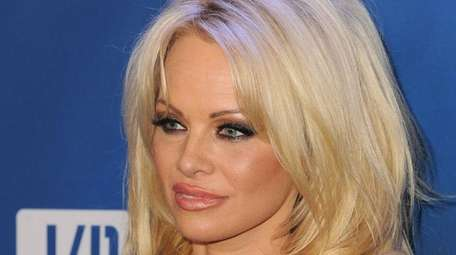 Actress Pamela Anderson is pictured in a January