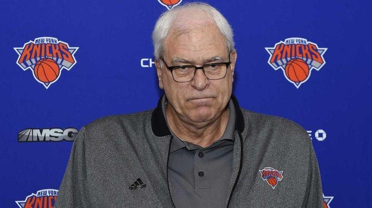 New York Knicks president Phil Jackson speaks