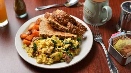 Served with toast and home fries, the garden