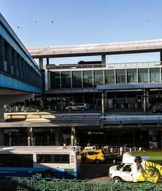 The exterior of the central terminal at LaGuardia