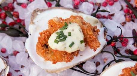 Fried oyster rémoulade at H2O Seafood and Sushi