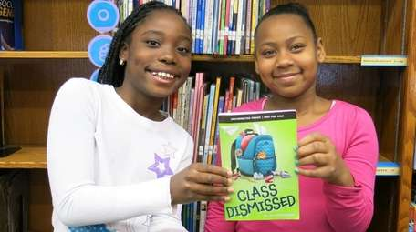 Kidsday reporters Kerilee Vargas, left, and Iycerra Florus