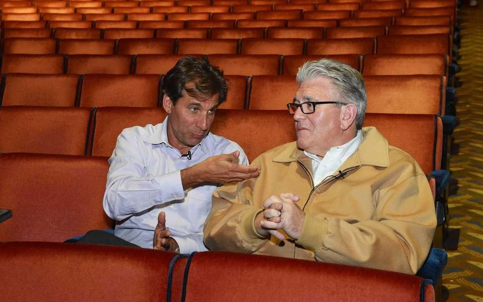 Mike Francesa and Chris Russo are seen during