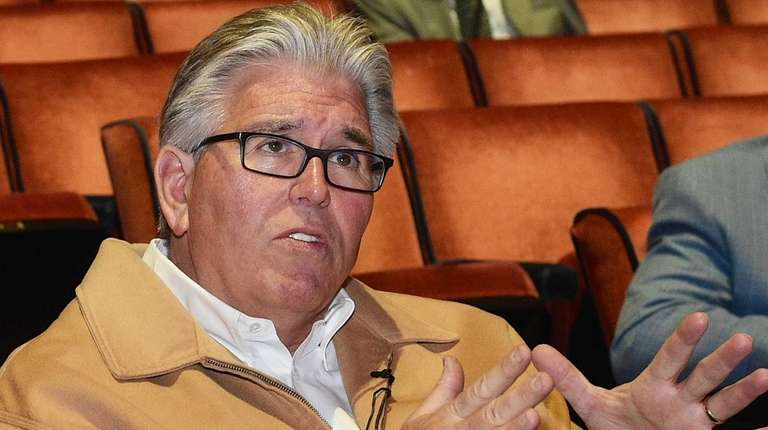 Mike Francesa is seen during preparation for the