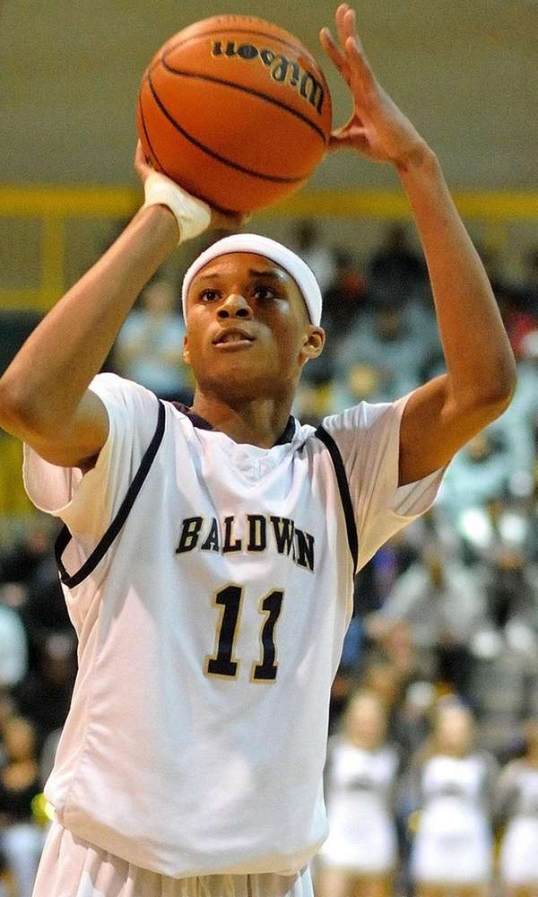 Baldwin's Shane Gatling shoots a free throw on