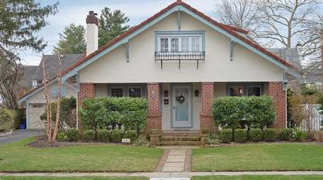 A Craftsman-style house on a dead-end street in