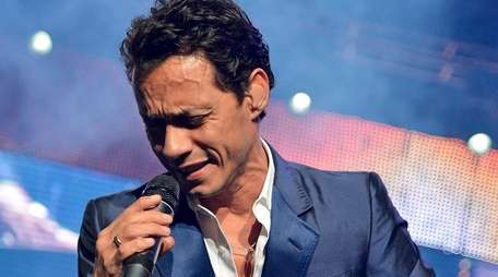 Marc Anthony performs at Izod Center in East