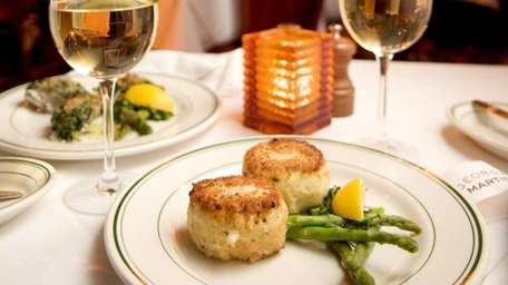 Jumbo lump crabcakes are served at George Martin's