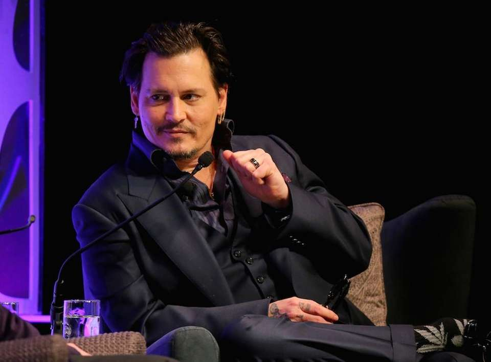 Actor Johnny Depp, who did an impression of
