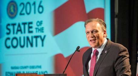 Nassau County Executive Ed Mangano delivers his State