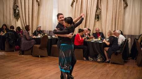 Diane and Neil Shell of Douglaston, Queens, dance