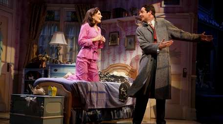 Laura Benanti and Zachary Levi in the revival
