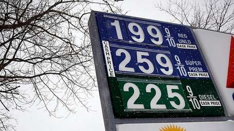 A gas price display at a Citgo station