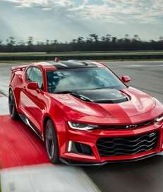 The 2017 Chevrolet Camaro ZL1 features a supercharged