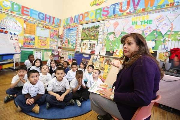 Nathalie Dagrella teaches her pre-K class at Shepherd's