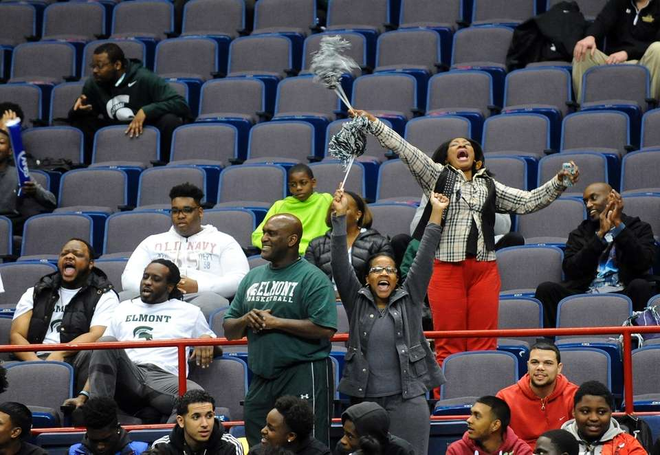 Fans cheer for Elmont as they play High