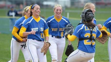 West Islip celebrates its 3-2 win over