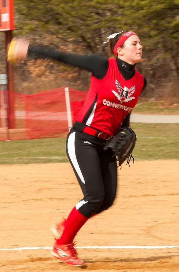 Connetquot's Sarah McKeveny delivers a pitch against