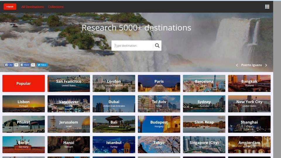NAME tripsak.com WHAT IT DOES Its destination resource