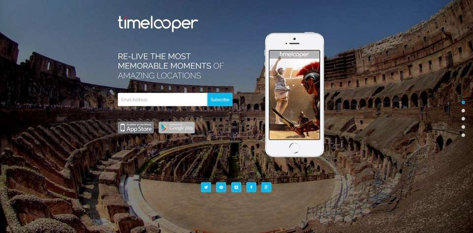 NAME Timelooper WHAT IT DOES This virtual-reality app