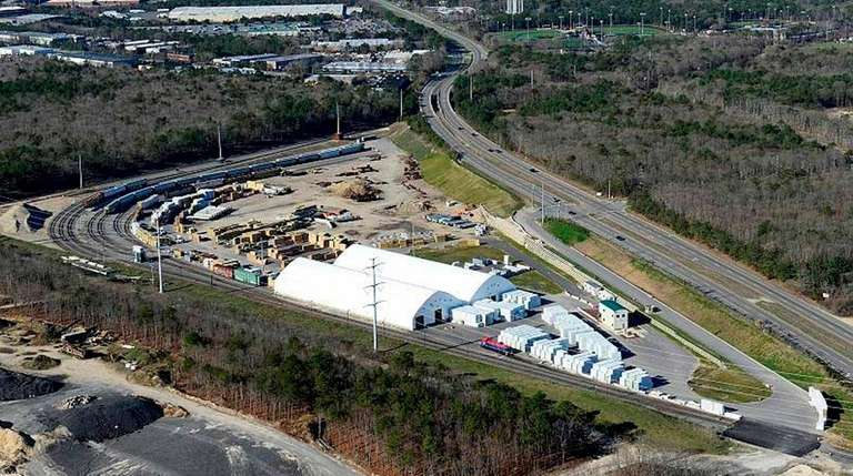 An aerial view of the Brookhaven Rail Terminal