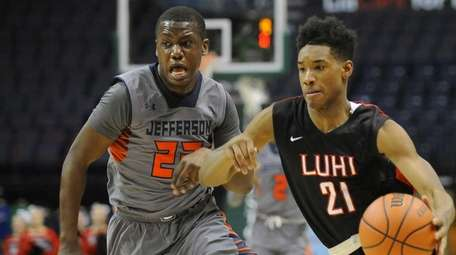 Long Island Lutheran's Charles Manning (21) moves the