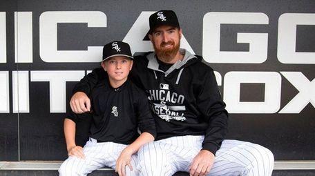 Chicago White Sox designated hitter Adam LaRoche sits