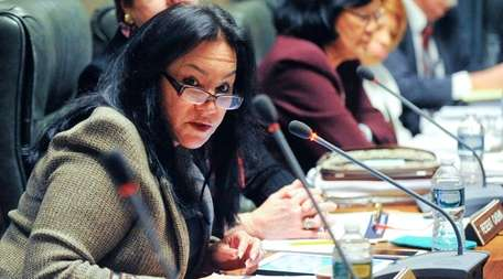 Regent Betty Rosa during a meeting last month
