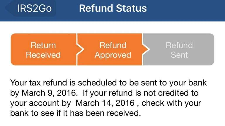 File taxes free at IRS website, track refund status with app