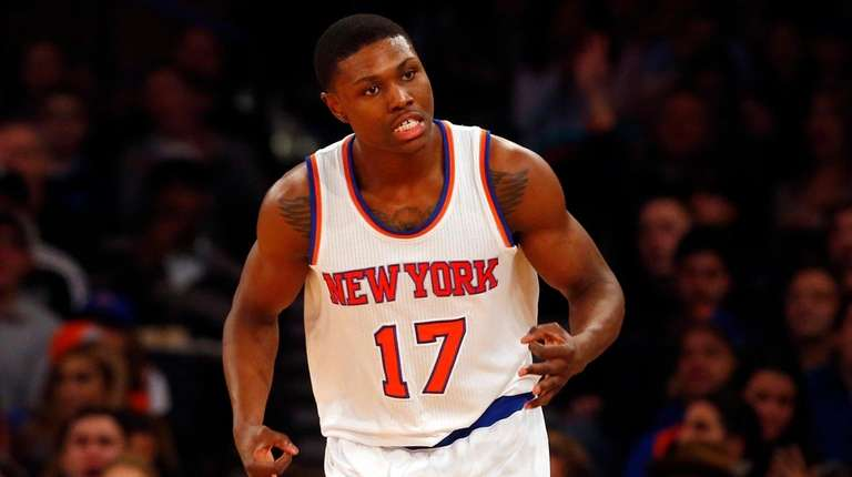 Cleanthony Early of the New York Knicks reacts