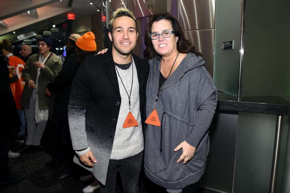 Musician Pete Wentz and comedian Rosie O'Donnell