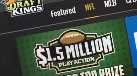 The fantasy sports website DraftKings is shown on