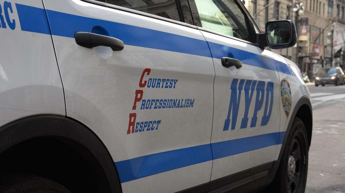 An NYPD car.