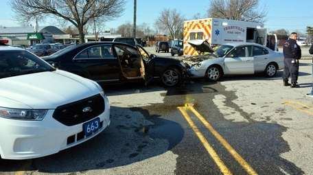 Two Suffolk County police officers were injured when