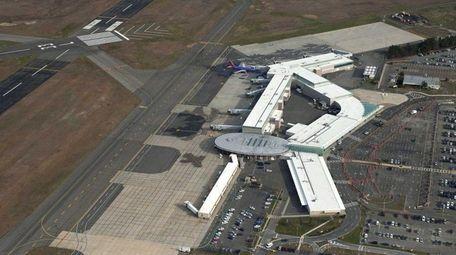 Long Island MacArthur Airport in Ronkonkoma is seen