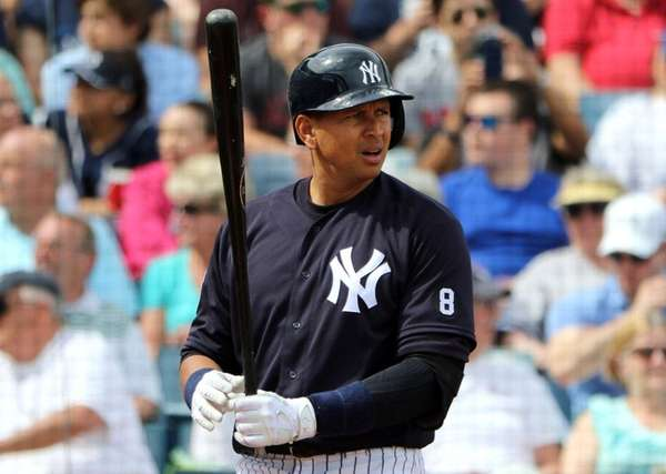 Alex Rodriguez, No. 13, of the New York