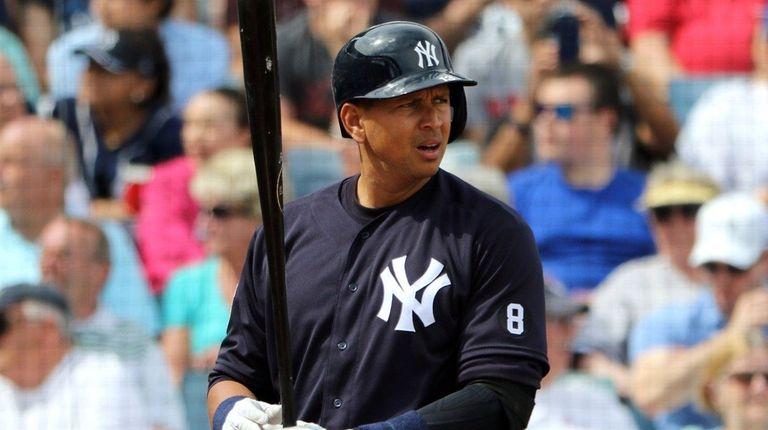 Alex Rodriguez, No. 13, of the New York