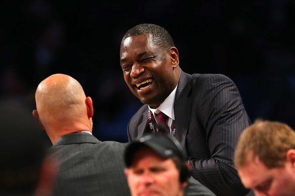 Former NBA player Dikembe Mutombo attends the Verizon