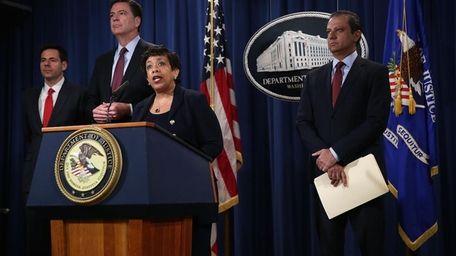 U.S. Attorney General Loretta Lynch speaks as FBI