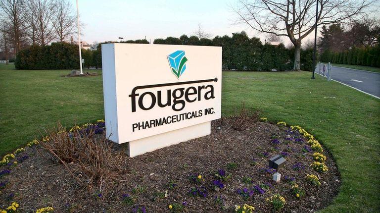 The entrance to the Fougera Pharmecuticals facility
